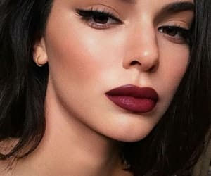 beautiful, lipstick, and red image