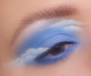 makeup, clouds, and eyeshadow image