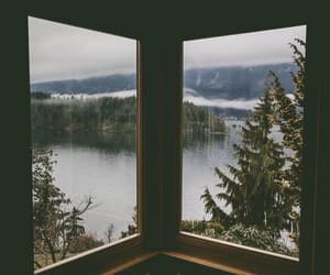 nature, lake, and window image