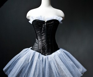 black, bow, and corset image
