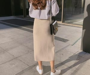 beige, curly hair, and fashion image
