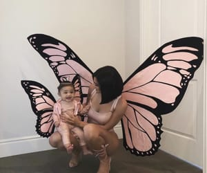 butterfly, pink, and baby image