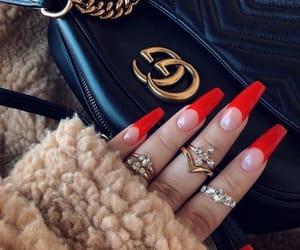 nails and red nails image