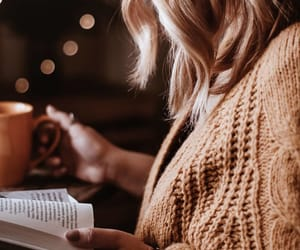 books, candle light, and style image