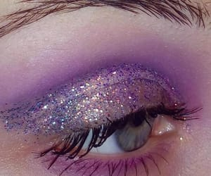 eye, makeup, and purple image