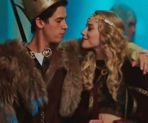 couple, alice cooper, and cole sprouse image