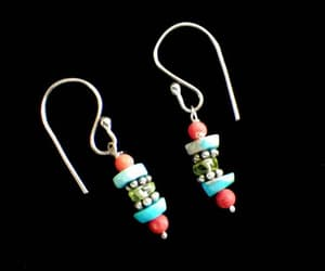 etsy, pierced earrings, and natural stone image