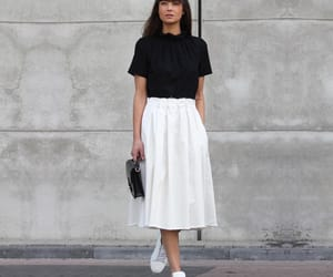 black and white, outfit, and parisian image