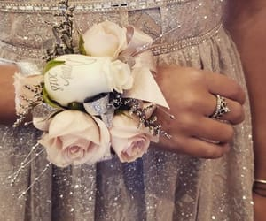 corsage, flowers, and shine image