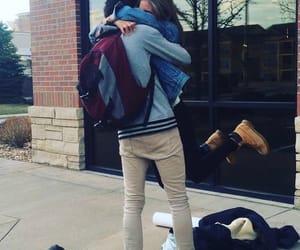 hug, spinning, and girl and boy image