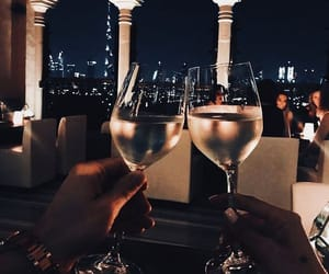 love, couple, and drink image