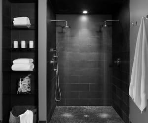 black and bathroom image