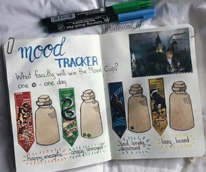harry potter, mood tracker, and bullet journal image