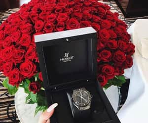 clock, offer, and roses image