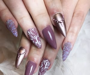 beautiful, nails, and stiletto image