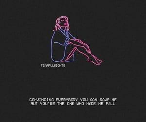 quote, sad, and saveme image