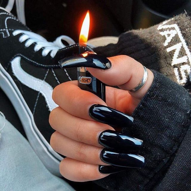 nails, black, and fire image