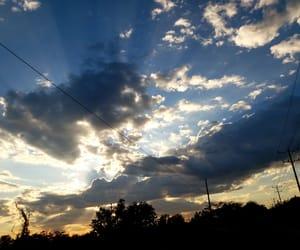 atardecer, azul, and cielo image