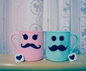 pink, blue, and cup image