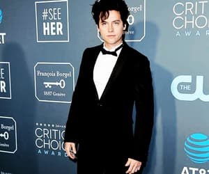 black and white, red carpet, and cole image