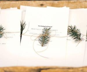invitation, winter, and wedding image