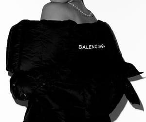 Balenciaga, black and white, and fashion image