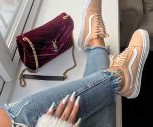fashion, nails, and vans image