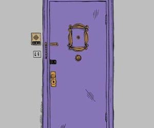 friends, wallpaper, and door image