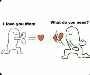 heart, meme, and mom image