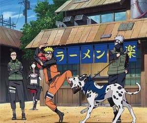 kakashi, naruto, and dog image