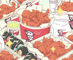anime, Chicken, and food image