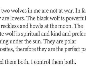 black, wolf, and personalidad image