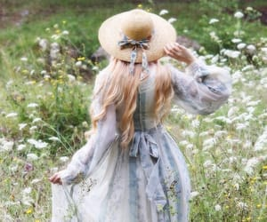dress, flowers, and vintage image