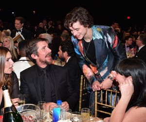 christian bale and timothee chalamet image