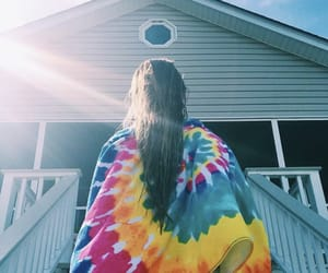 beach, hair, and beach house image