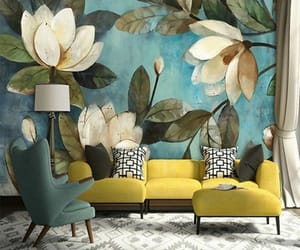 bedroom, decor, and floral image