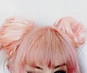 colored hair, pastel, and pink image