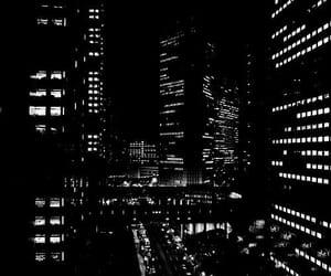 black, city, and dark image