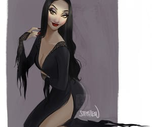 art, movie, and the addams family image