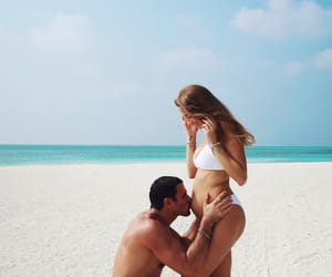 pregnant, beach, and family image