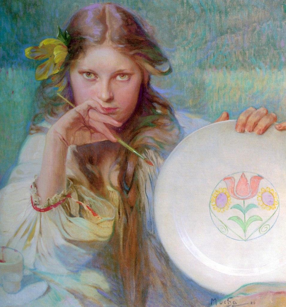 alphonse mucha, Art Nouveau, and artist image