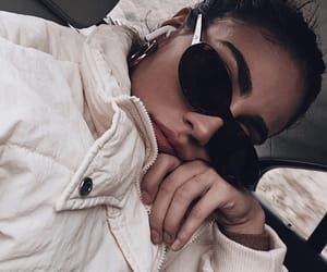 coat, shades, and style image