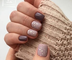 nails, beauty, and brown image