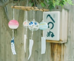 japan, wind bells, and furin image
