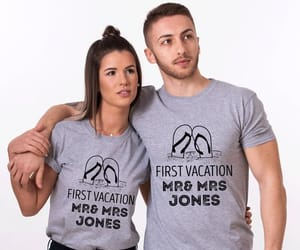 etsy, matching couples, and honeymoon shirts image