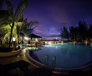 pool, night, and luxury image