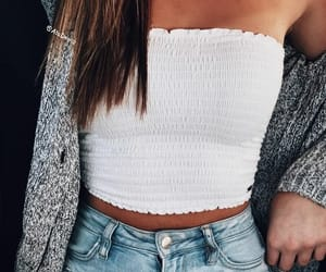 denim, knit, and sweater image
