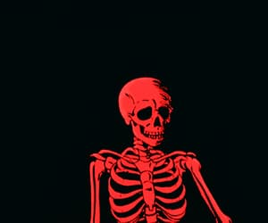 black and red, gif, and skeleton image