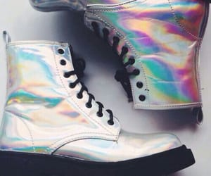 grunge and holographic image