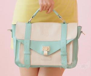 bag, mint, and teal image